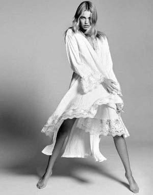 Hailey Clauson Looks Ethereal in White for Swim Daily Feature
