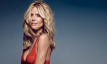 Heidi Klum models for Heidi Klum Intimates campaign