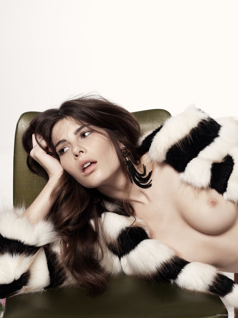 (On Monica) Bless'ed Are the Meek Fur Jacket