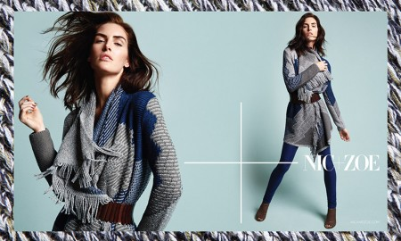 Hilary Rhoda for NIC+Zoe fall 2015 campaign. Photo: Air Paris