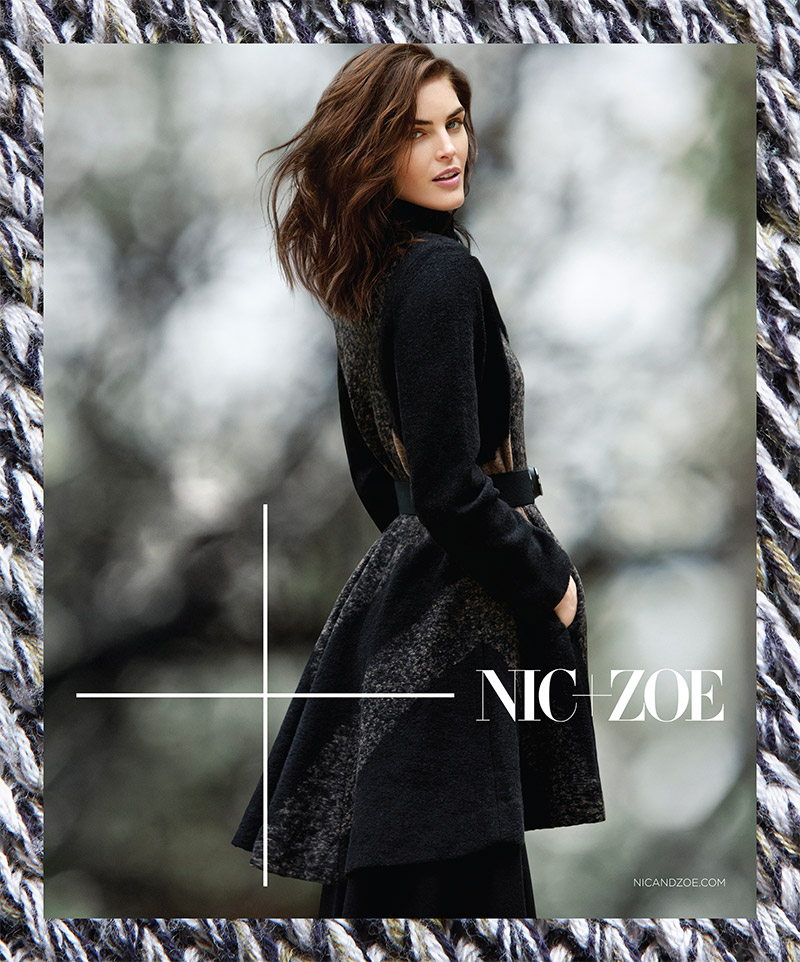 Hilary Rhoda for NIC+Zoe fall 2015 campaign. Photo: Air Paris