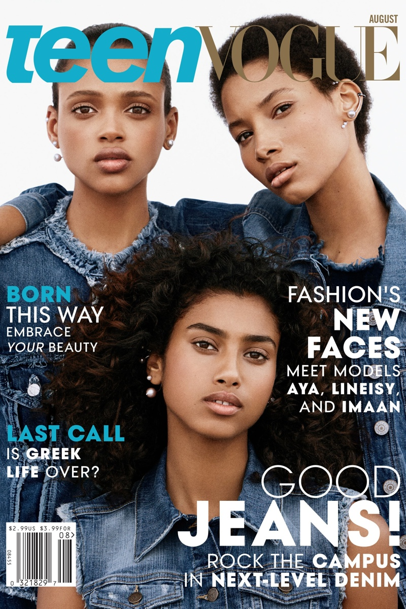 Teen Vogue Taps Rising Stars Imaan, Aya & Lineisy for August 2015 Cover (1 of 4)