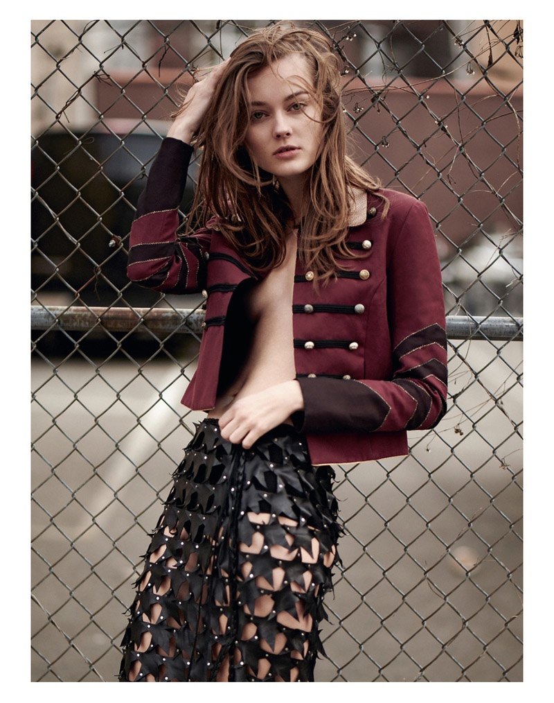 Jac Jagaciak is Rock & Roll Chic for ELLE Poland by Kevin Sinclair