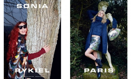 Georgia May and Lizzy Jagger for Sonia Rykiel fall-winter 2015 ad campaign