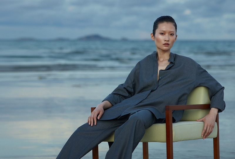 Before Sunrise: Jasmin Feng Wears Relaxed Style in ELLE Vietnam