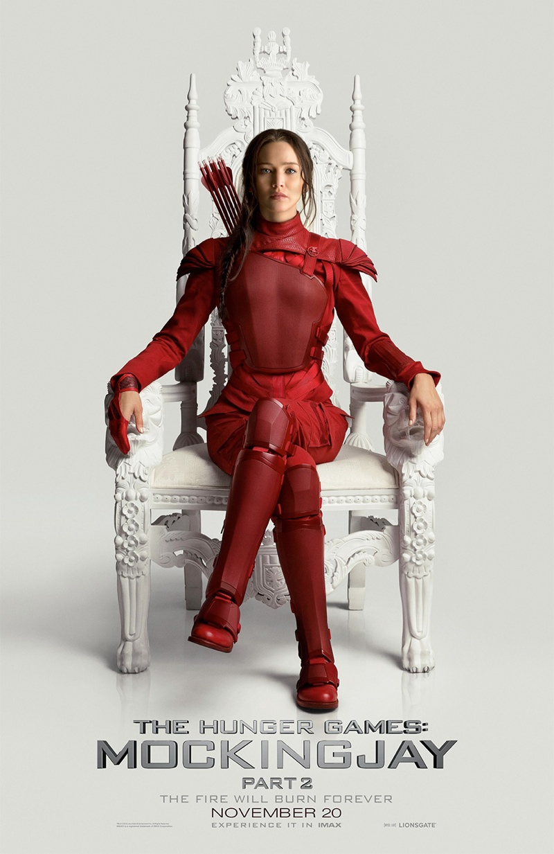 Jennifer Lawrence Owns the Throne on New 'Mockingjay – Part 2' Poster