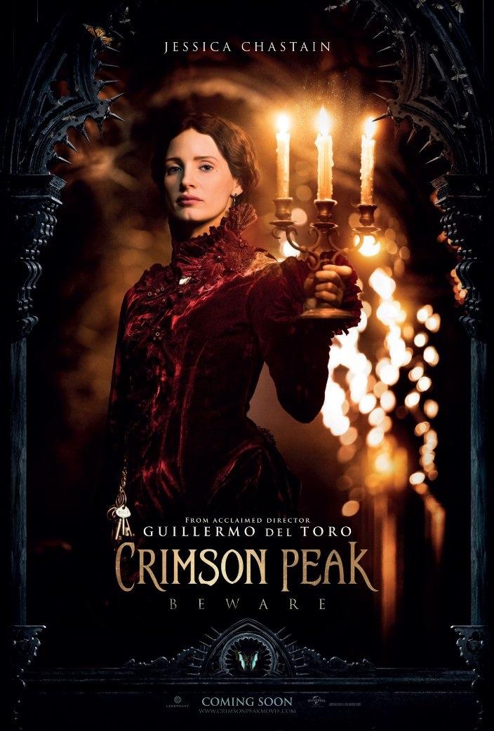 Jessica Chastain on Crimson Peak poster