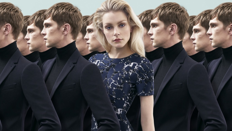 Jessica Stam Doubles Up in Harrolds' Fall 2015 Campaign