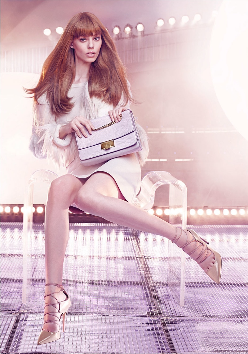 Ondria Hardin Takes Center Stage in Jimmy Choo's Fall 2015 Campaign