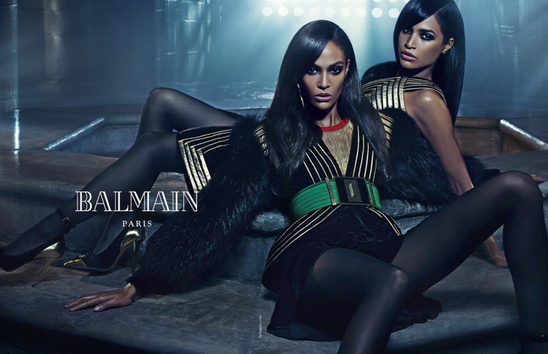 Joan and Erika Smalls for Balmain fall-winter 2015 campaign