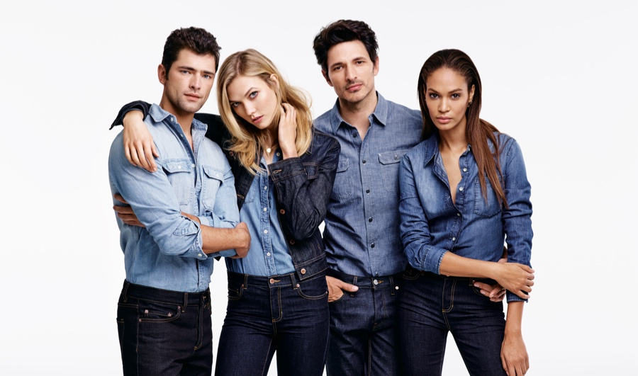 Karlie Kloss stars in Joe Fresh's fall 2015 campaign with Sean O'Pry, Andrés Velencoso and Joan Smalls