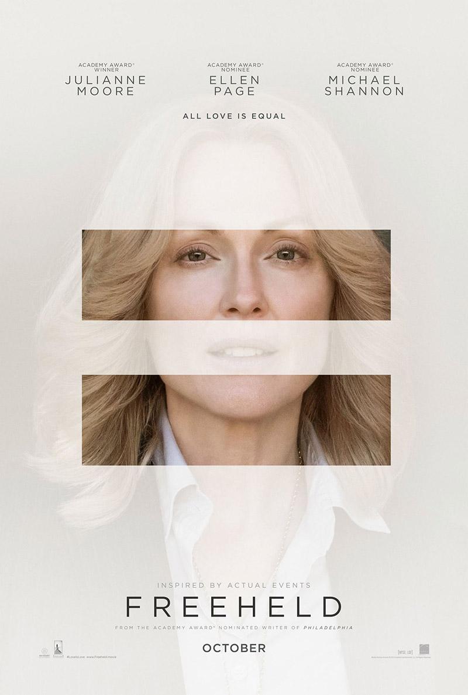Julianne Moore on Freeheld poster