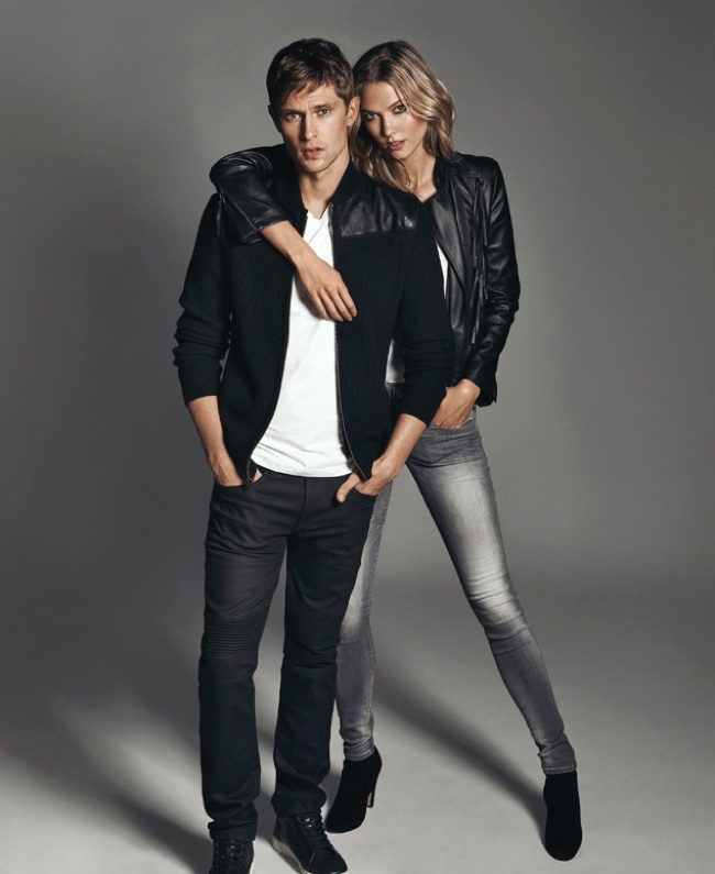 Karlie Kloss Flaunts Her Midriff in Express Denim Campaign
