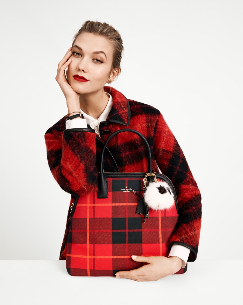 Karlie Kloss Makes a Case for Plaid in Kate Spade's Fall 2015 Campaign