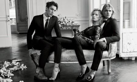 Model Karolina Kurkova stars in Giuseppe Zanotti's fall 2015 campaign