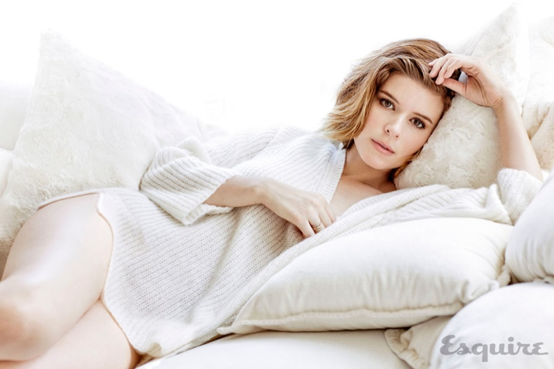 Kate Mara Lounges for Steamy Esquire Shoot