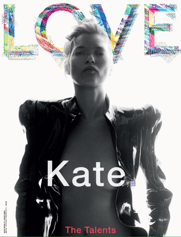 Kate Moss on LOVE Magazine cover