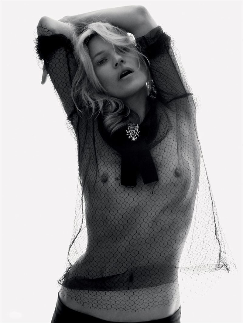 Kate Moss Embraces the Sheer Trend for Cover Story of LOVE