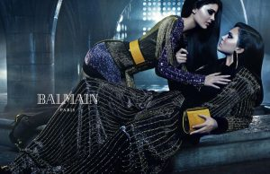 Kendall + Kylie Jenner Front Balmain's Sibling Themed Fall 2015 Ads