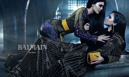 Kendall and Kylie Jenner for Balmain fall-winter 2015 advertising campaign