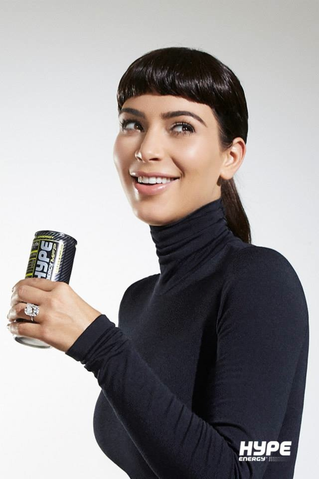 Kim Kardashian channels Audrey Hepburn for Hype Energy