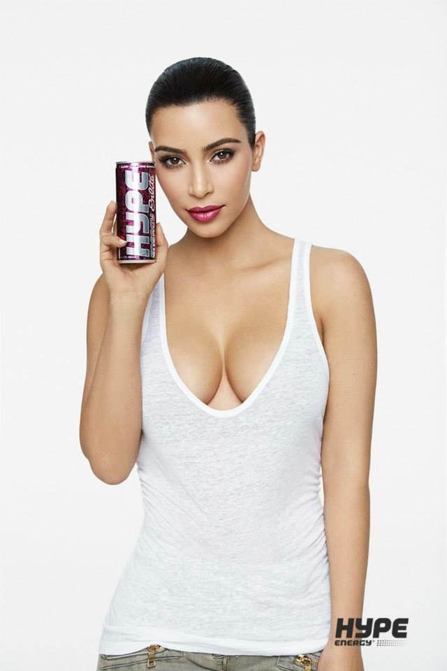 Kim Kardashian for Hype Energy