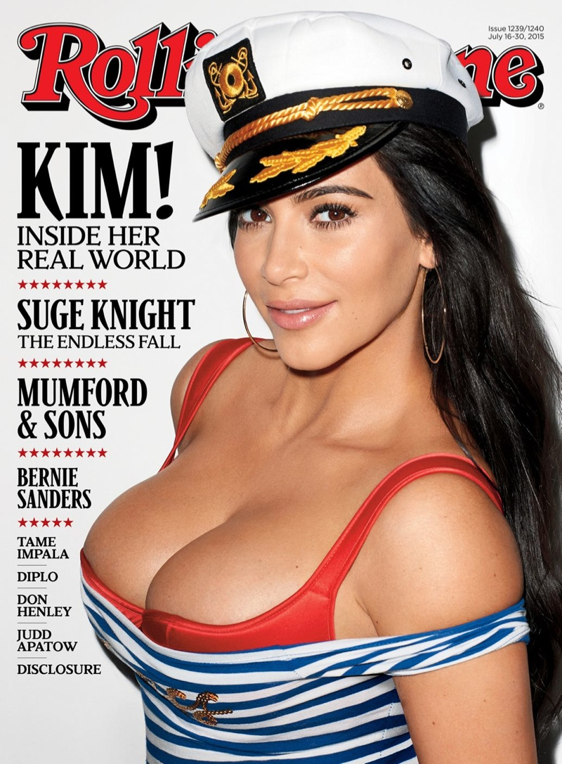 Kim Kardashian lands the July 2015 cover of Rolling Stone
