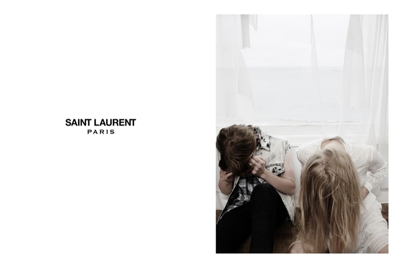 Actress Klara Kristin Fronts Saint Laurent Summer Images