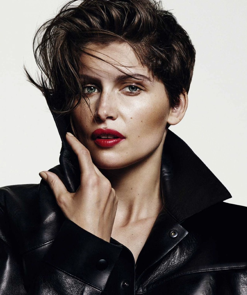 Laetitia Casta Models New Cropped Hairdo in Harper's Bazaar Spain Cover Story