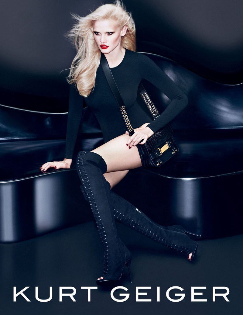 Lara Stone is All Legs in Kurt Geiger Fall 2015 Ads