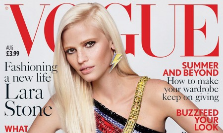 Lara Stone on Vogue UK August 2015 Cover