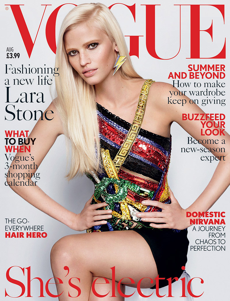Lara Stone is a Glamourpuss on Vogue UK Cover (1 of 2)