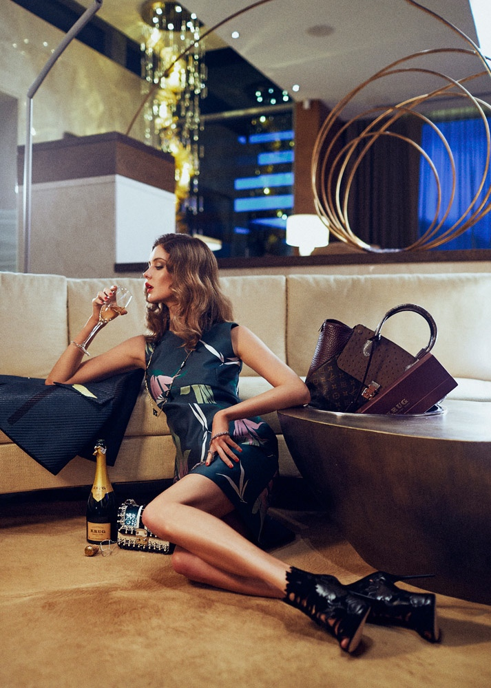 Lauren Brown Lives the Glam Life for Sunday Times Magazine