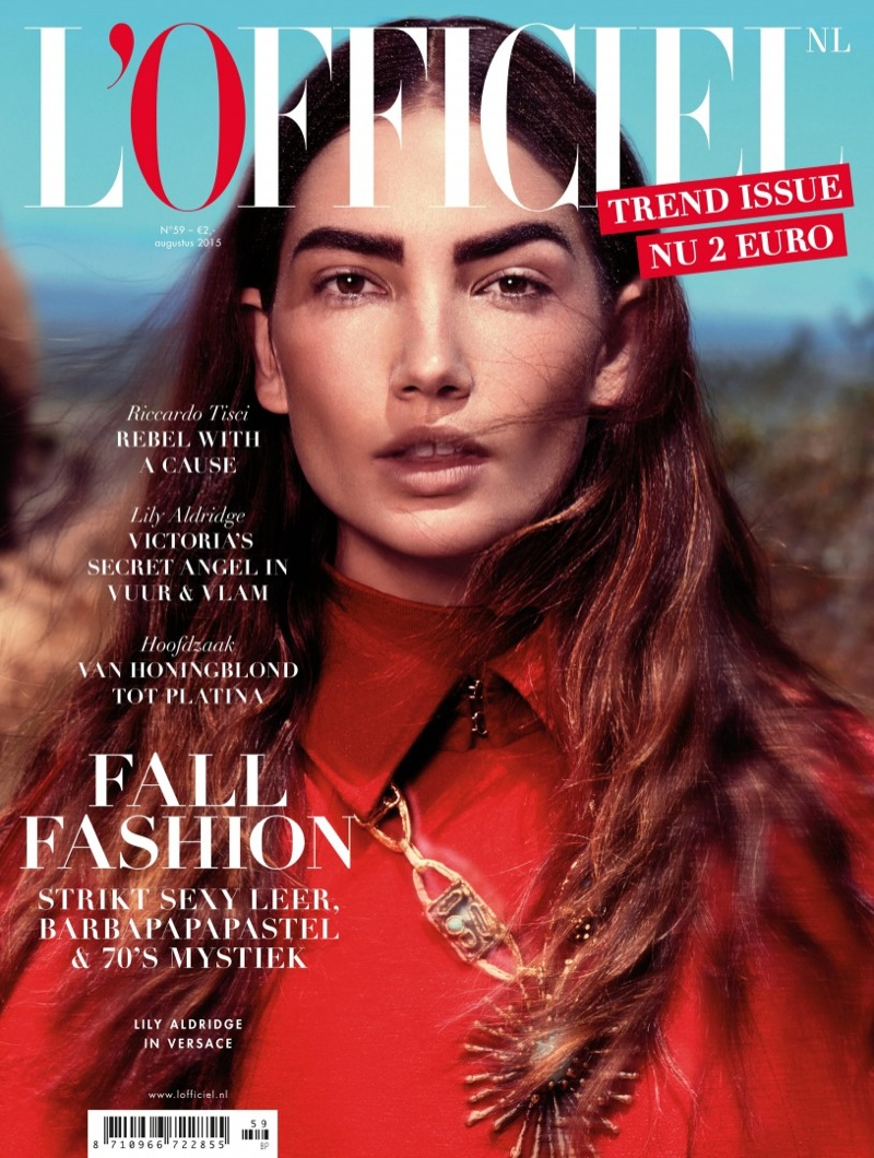 Lily Aldridge on the August 2015 Cover of L'Officiel Netherlands