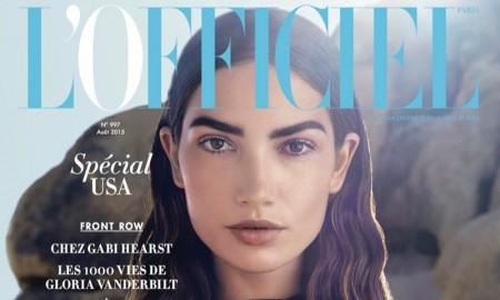 Lily Aldridge on the August 2015 Cover of L'Officiel Paris