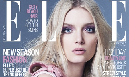 Lily Donaldson on ELLE UK August 2015 Cover