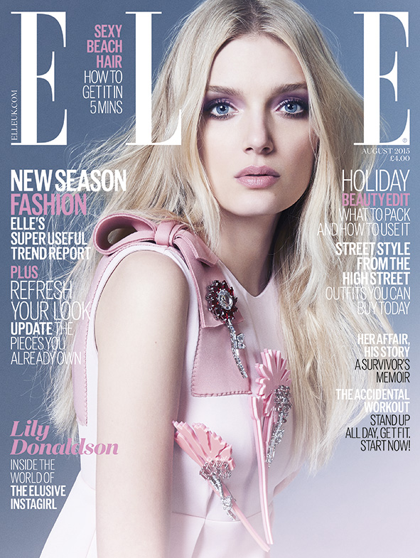 Lily Donaldson is Pretty in Prada for ELLE UK Cover