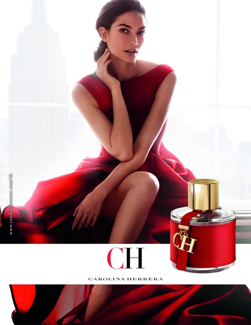 Lily Aldridge stars in Carolina Herrera CH Fragrance campaign