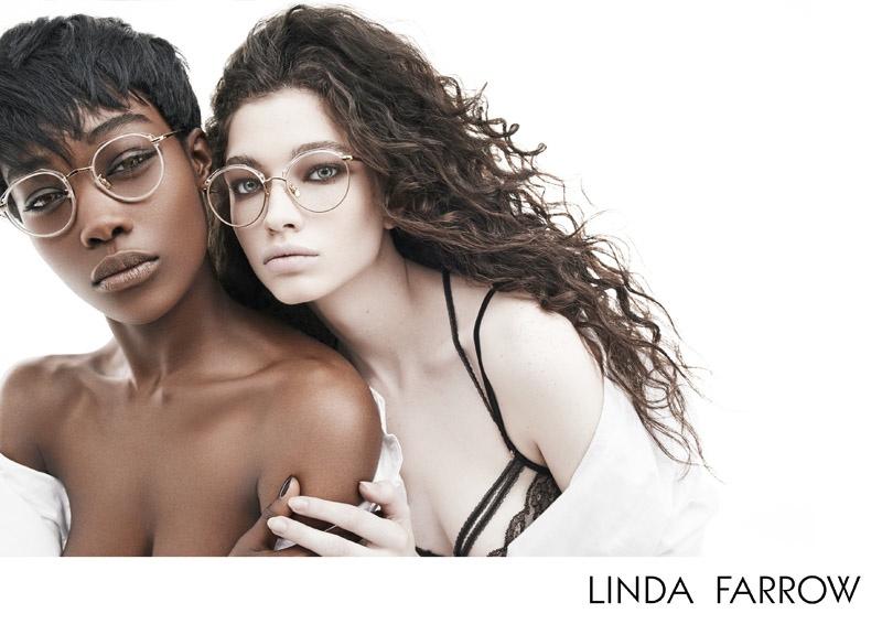 Betty + Nichole Strip Down for Linda Farrow Fall 2015 Ads