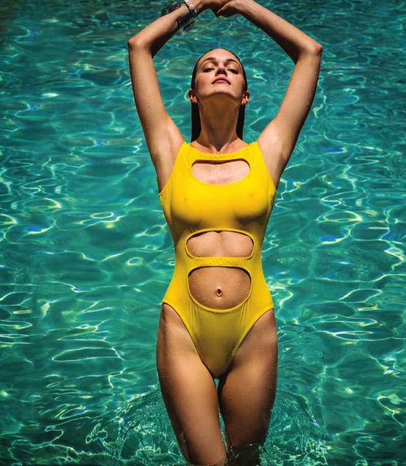 Lindsay Ellingson Sports Colorful Swimsuits in The Daily Summer