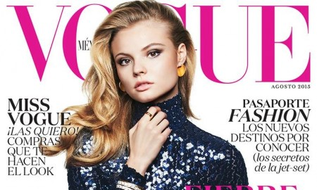 Magdalena Frackowiak on the August 2015 cover of Vogue Mexico