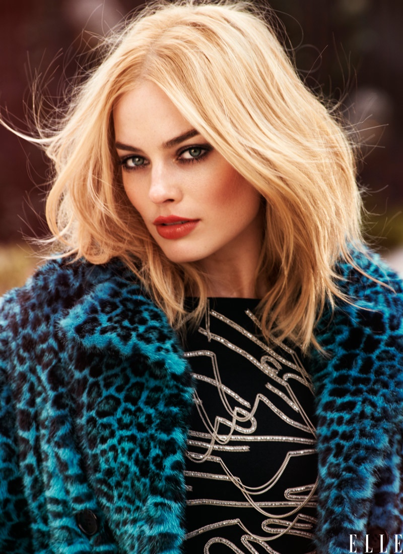 Margot Robbie Rocks Messy Waves for ELLE Cover Shoot