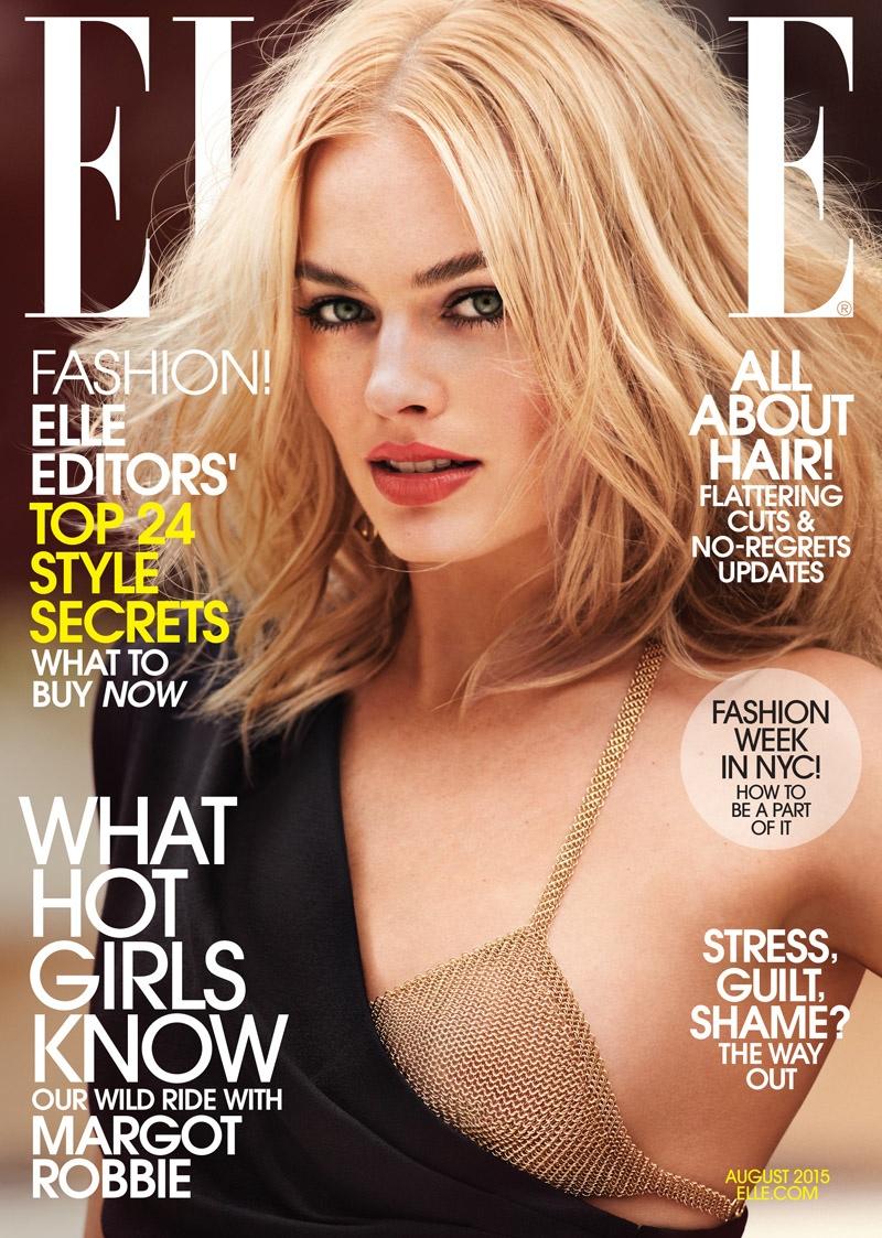 Margot Robbie Rocks Messy Waves for ELLE Cover Shoot