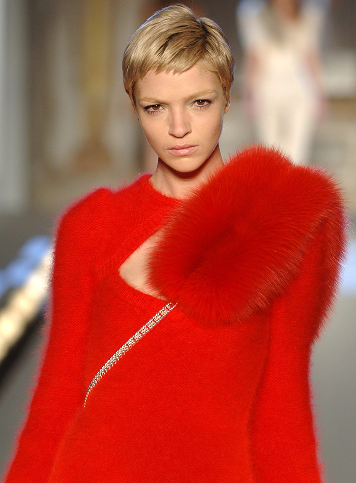 Italian model Mariacarla Boscono began her career in 1997. Although she is known for her long black hair, she debuted a platinum blonde and short pixie haircut in 2006. A year later she went  back to her natural black hair but still kept it short. Mariacarla is a muse to Givenchy designer Riccardo Tisci. Photo: stocklight / Shutterstock.com