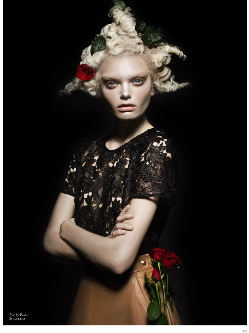 The Flower: Marthe Wiggers by Thom Kerr in Black Magazine