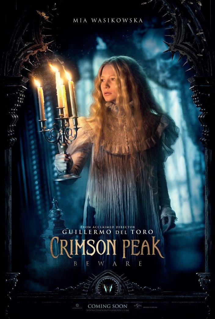 Mia Wasikowska on Crimson Peak poster
