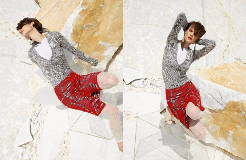 Saskia de Brauw Gets Topsy Turvy in Missoni's Fall 2015 Campaign