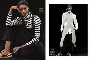 Senait Gidey Models Monochromatic Looks for Stylist by Alvaro Beamud Cortes