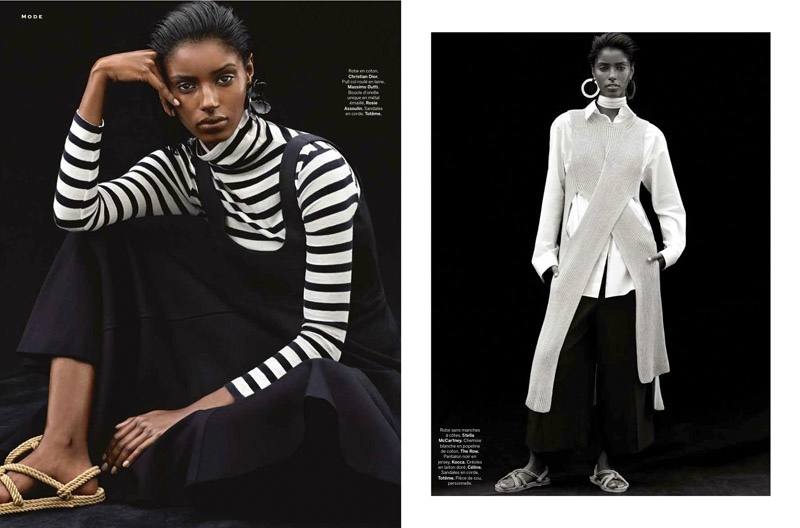 Senait Gidey Models Monochromatic Looks for Stylist by Alvaro Beamud Cortes