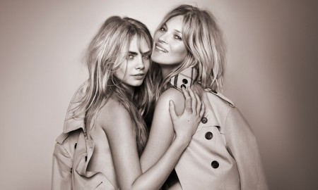 Cara Delevingne + Kate Moss for My Burberry Eau de Toilette Fragrance advertisement.